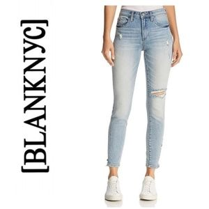 NWT BLANK NYC Light Wash Distressed Skinny Jeans
